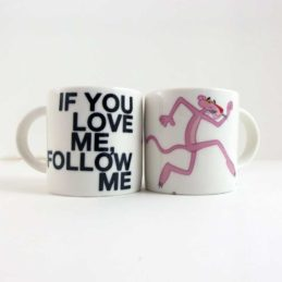 Tazza Mug Pantera Rosa - If You Love Me Follow Me