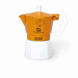 Caffettiera Tre Tazze Arancio Charlie Brown