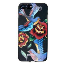Cover iPhone Uccelli e Fiori Colorati