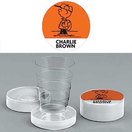 Bicchiere chiudibile a telescopio Charlie Brown