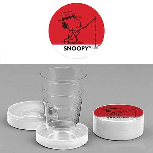 Bicchiere chiudibile a telescopio Snoopy Rosso