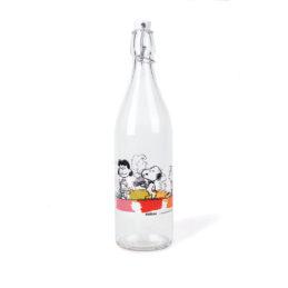 Bottiglia Vetro Peanuts con Tappo Ermetico 1 Litro