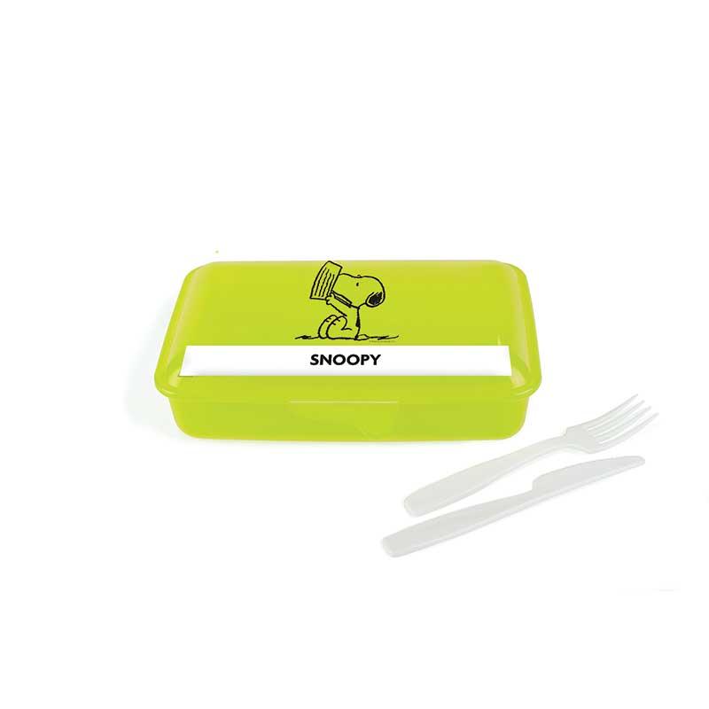 Porta Pranzo con posate Snoopy Verde