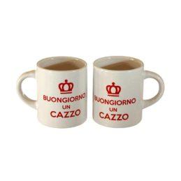 Coppia Tazzine Caffè Buongiorno Un Cazzo