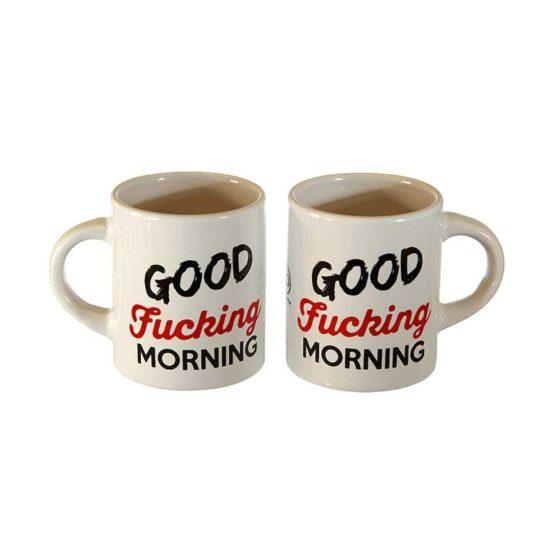 Coppia Tazzine Caffè Good Fucking Morning