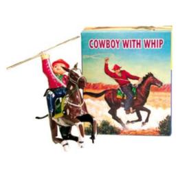 Gioco di latta Cowboy a cavallo