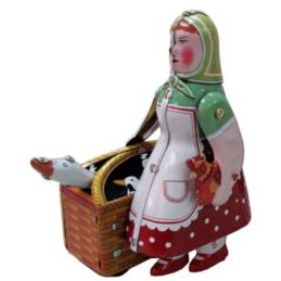 Gioco di latta Donna con cesto
