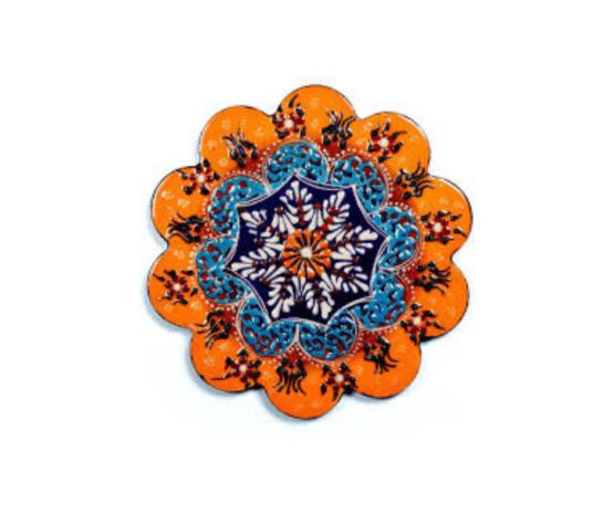 Sottopentola in ceramica con decori in rilievo linea Istanbul
